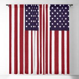American flag - painterly treatment Blackout Curtain