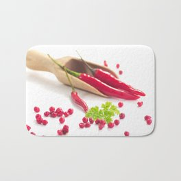 Hot chili and hot pepper Bath Mat