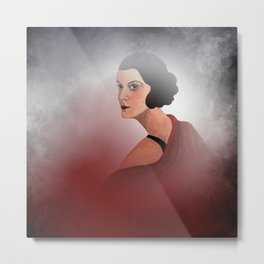 the woman in red Metal Print