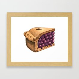 Blueberry Pie Slice Framed Art Print