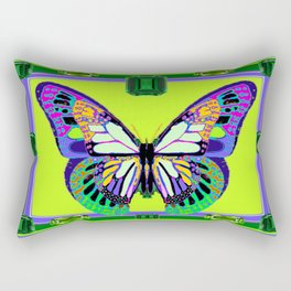 Fantasy Butterfly Gemmed Framework Design Rectangular Pillow