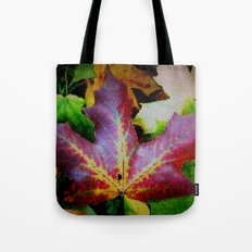 Autumn Leaves - Colored Glass Tote Bag