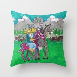 Montana Cats Throw Pillow