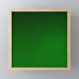 Emerald Green Ombre Design Framed Mini Art Print