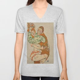 "Egon Schiele ""Lovemaking"" Unisex V-Neck"