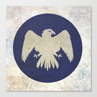 game of thrones Canvas Prints featuring Arryn Flag (Game of Thrones) by Goat Robot