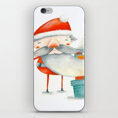 Santa and friend iPhone & iPod Skin