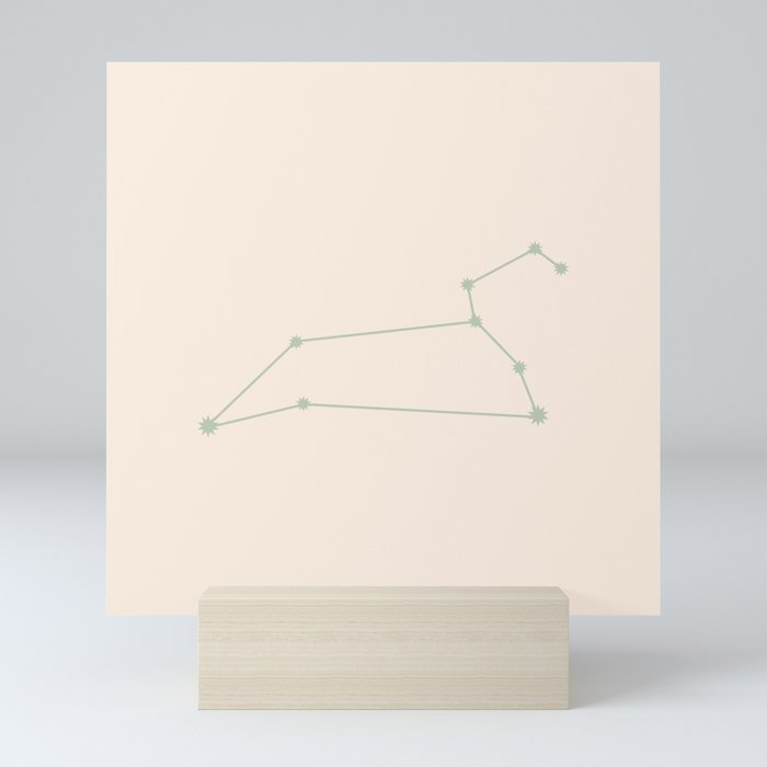 Leo Zodiac Constellation Sage Mini Art Print