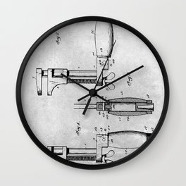 Monkey Wrench Wall Clock