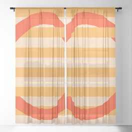 GEOMETRY ORANGE III Sheer Curtain