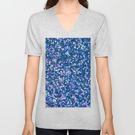 Dazzling Blue Sequences (Color) Unisex V-Neck