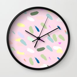 Brush confetti Wall Clock