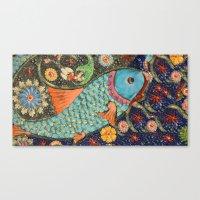 koi Canvas Prints featuring Koi by Joke Vermeer
