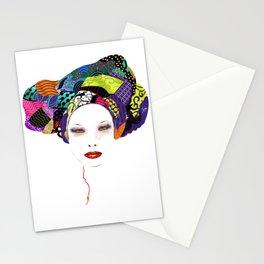africain  foulard Stationery Cards