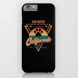 San Mateo California iPhone Case