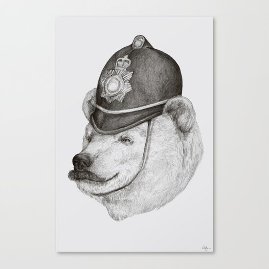 Bearly Legal Canvas Print