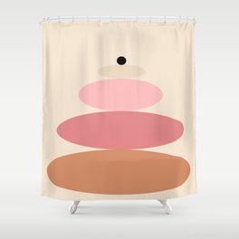 Stone Stack Shower Curtain