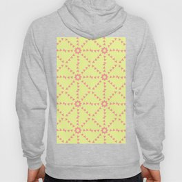 Triangle Pattern In Yellow and Coral Hoody