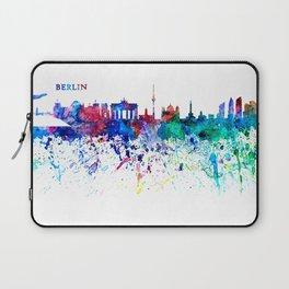 Berlin Skyline Silhouette Impressionistic Splash Laptop Sleeve
