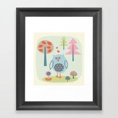 Bird in the Woods Framed Art Print