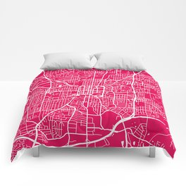 Greensboro map raspberry Comforters