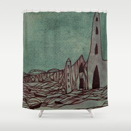 town Shower Curtain