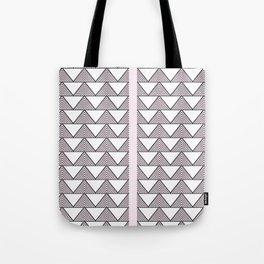 Audrey and Frank - Modern Envelopes Stripe (Pink) Tote Bag