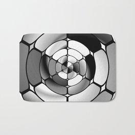 Chromed black and white Bath Mat