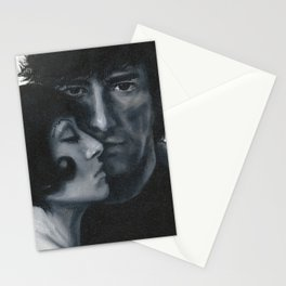 Portrait of Neil Gaiman and Amanda Palmer Stationery Cards