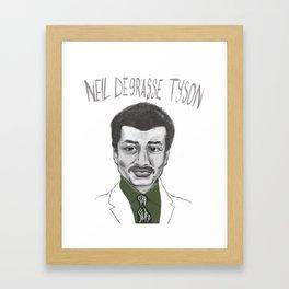 Neil deGrasse Tyson Framed Art Print