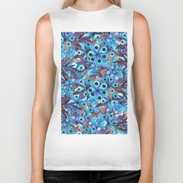 Exactly Where They'd Fall (Floral Pattern) Biker Tank