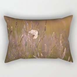 Arnica medicinal plant in a summer meadow Rectangular Pillow
