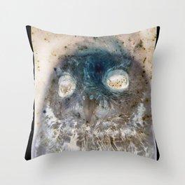 Owl Negative Throw Pillow