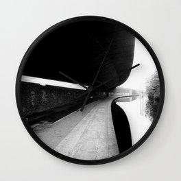 URBAN BLACK AND WHITE PHOTOGRAPH Wall Clock