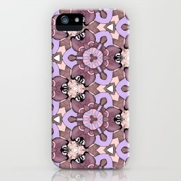 Line Flora Purples iPhone Case