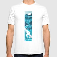 In The Ice Cold North White Mens Fitted Tee MEDIUM