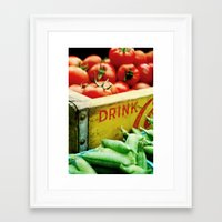 drink Framed Art Prints featuring Drink by sursly