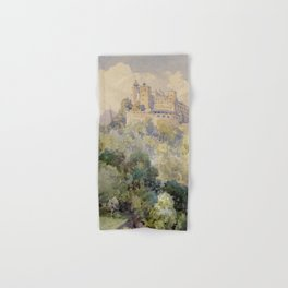 Overlooking the Hohenwerfen Fortress in Salzburg by Edward Theodor Compton Hand & Bath Towel