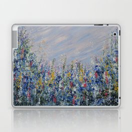 Blue Bells and Cockle Shells, Blue Floral Landscape Laptop & iPad Skin