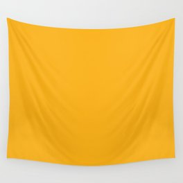 Bright Beer Yellow Simple Solid Color All Over Print Wall Tapestry