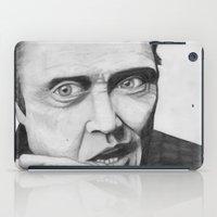 christopher walken iPad Cases featuring Christopher Walken by Magnus Valtias