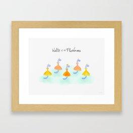 Waltz of the FloWorms Framed Art Print