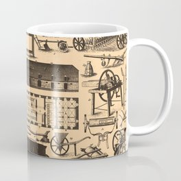 Historical Farm Equipment Illustration (1907) Coffee Mug