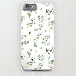 orange - subtle pattern iPhone Case