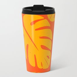 Monstera Leaf Print 1 Travel Mug