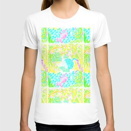 Asian Bamboo Garden in Pink Lemonade Watercolor T-shirt