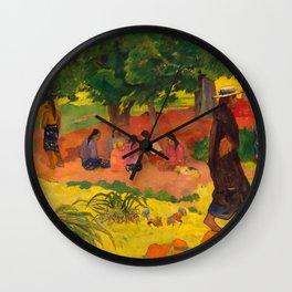 "Paul Gauguin ""Taperaa Mahana (Late Afternoon)"" Wall Clock"