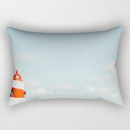 Red White Lighthouse Rectangular Pillow