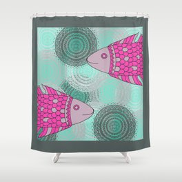 Indian Fish Shower Curtain