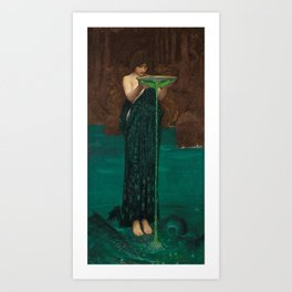 John William Waterhouse Circe Invidiosa Art Print